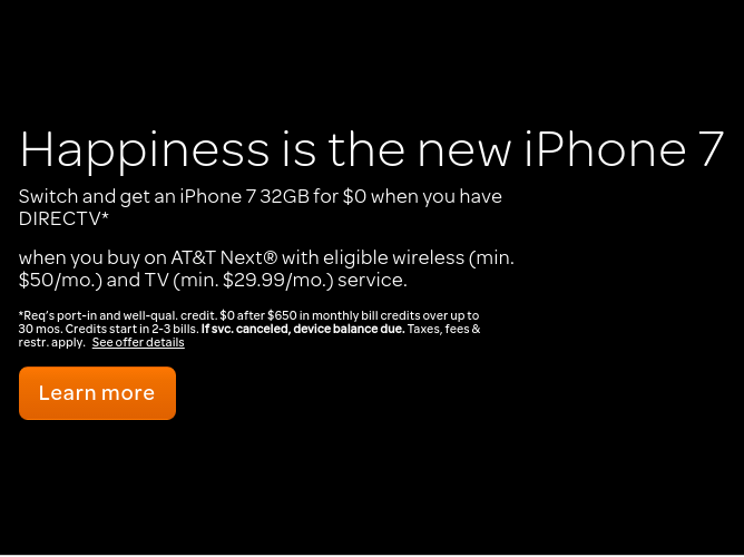 iPhone 7 = Happiness?