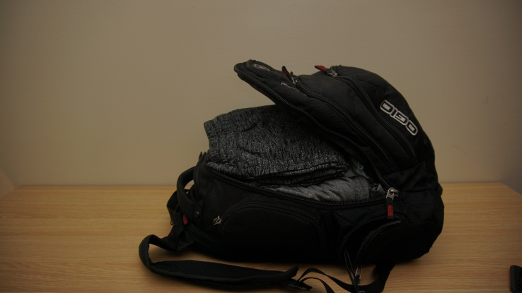 unzipped ogio backpack