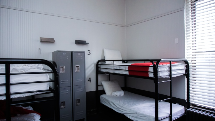 two bunk, four bed room at Chicago Getaway Hostel co-ed
